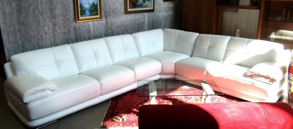 Divano Bianco ad angolo moderno