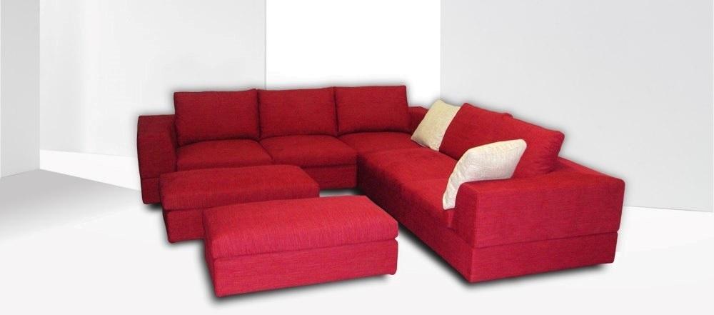 Divano Rosso Angolare.Divano Moderno Angolare Rosso